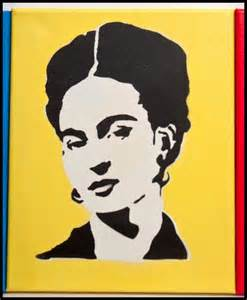 Frida Kahlo Stencil Art