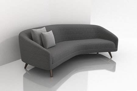curved contemporary sofa theparty intended modern