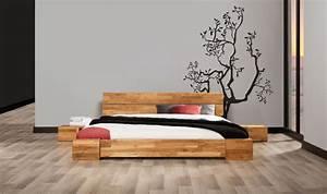 Lit Bas Adulte : lit en chne massif tokyo meubles chambre a coucher ~ Teatrodelosmanantiales.com Idées de Décoration