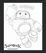 Superbook Colouring Competition Club Gizmo Dvd Years sketch template