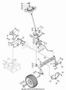 Mtd 13al606g730  2005  Parts Diagram For Steering Assembly