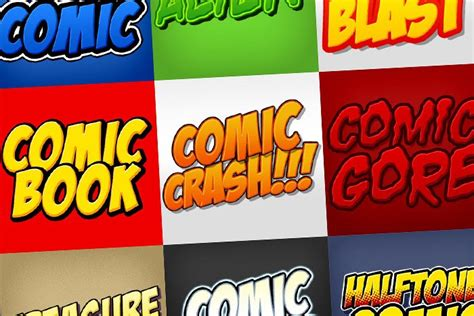 comic book photoshop styles pack photoshop add ons