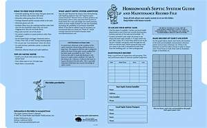 Homeowner U2019s Septic System Guide And Maintenance Record