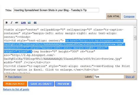 Html Code For Opening Links In New