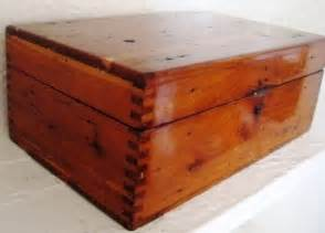 Vintage Wooden Dovetailed Box