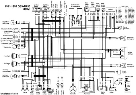 1991 gsxr 750 wiring diagram wiring diagram
