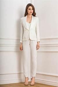 Combinaison Pantalon Femme Mariage : tailleur pantalon pour mari e collection 2017 de robes ~ Carolinahurricanesstore.com Idées de Décoration