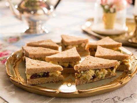curried chicken salad tea sandwiches recipe food network
