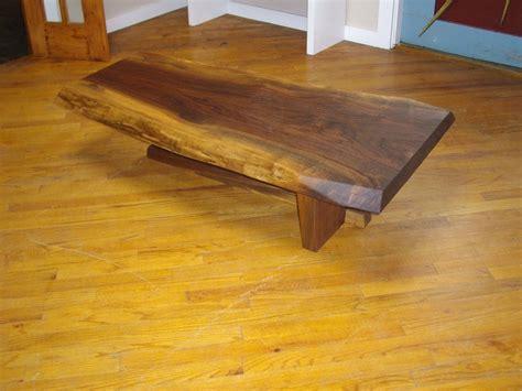 oak livingroom furniture custom live edge coffee table by