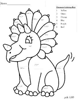 dinosaur number coloring page  patricia anne tpt