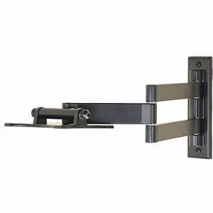 Full motion flat screen tv wall mount bracket for sanyo for Flat screen tv wall mount