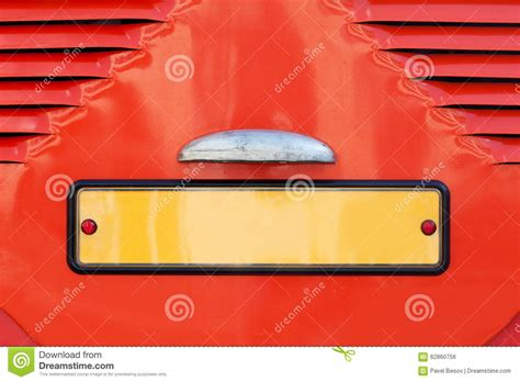 Vintage License Car Plate Number, Retro Style Stock Photo