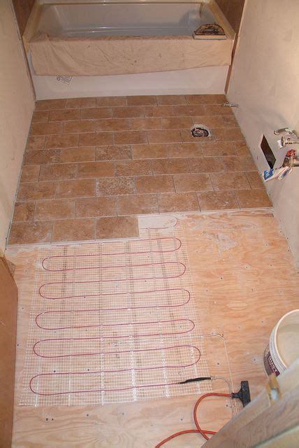 Radiant Floor Heating Bathroom by Heated Travertine Floor Build Me A Home Travertine