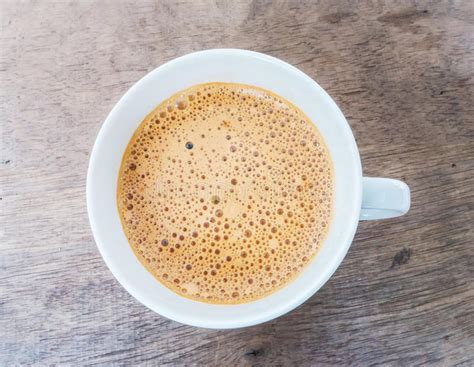 Coffee With Foam On Top Stock Image. Image Of Morning Coffee Culture Zagreb Time Elmvale Portugal Keto Stratford Hours On Highway 7 K Cups Kuwait