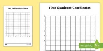 First Quadrant Grid   Quadrant Grid, Coordinates, Plotting