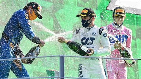Gasly surprise Italian GP winner; Canada's Stroll makes podium