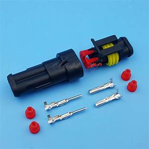 5 Sets 2 Pin Car Waterproof Wire Connector Hid Plug 1 5mm