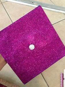 Glitter decorated graduation cap | Graduation cap ideas ...