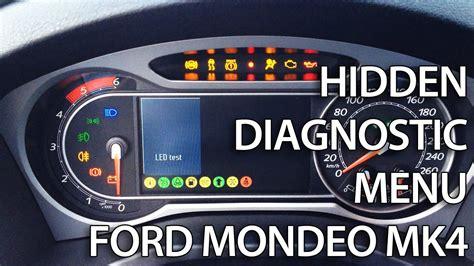 enter diagnostic hidden menu  ford mondeo mk