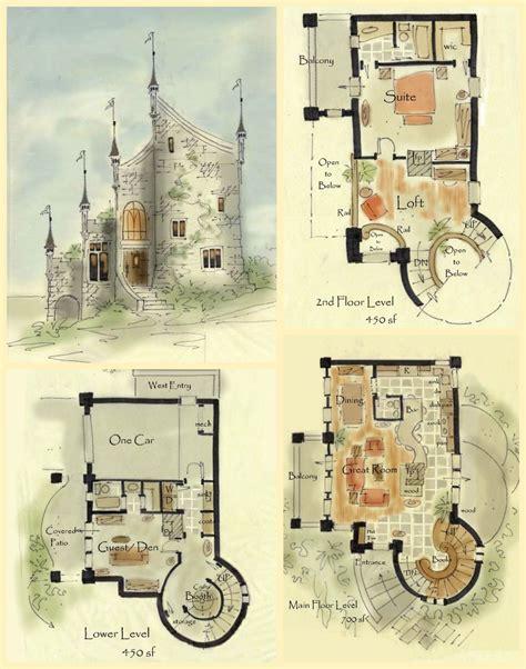 Real Fairytale Cottage Castle Floor Plans