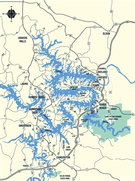 Lake Of The Ozarks Boating Map by Places To Go