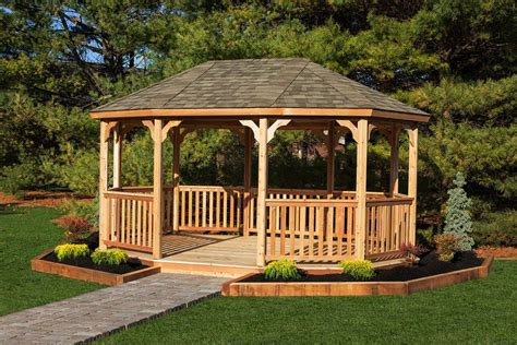 large wooden gazebo kits amish   yardcraft