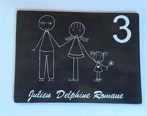 Plaque De Maison Personnalisée : plaque de maison personnalis e avec pr noms en couleur ~ Dallasstarsshop.com Idées de Décoration