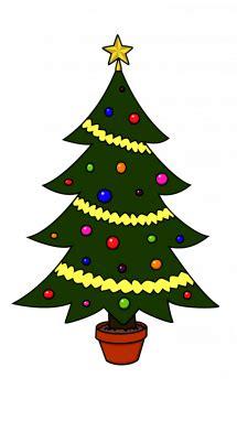 draw christmas tree christmas holidays easy step