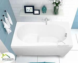 Sitzbadewanne Mit Dusche : badewanne wanne rechteck sitzbadewanne sitz 120 x 75 cm ohne mit sch rze acryl ebay ~ Watch28wear.com Haus und Dekorationen