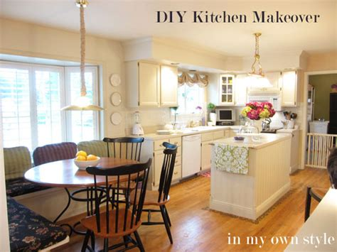 diy kitchen makeover ideas diy kitchen makeover how to paint cabinets inmyownstyle 6856