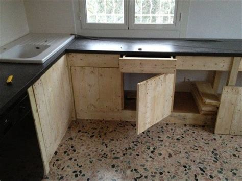 kitchen island made out of pallets pallet kitchen furniture pallet idea 9414