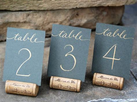 wedding table number ideas 21 diy wedding table number ideas diy