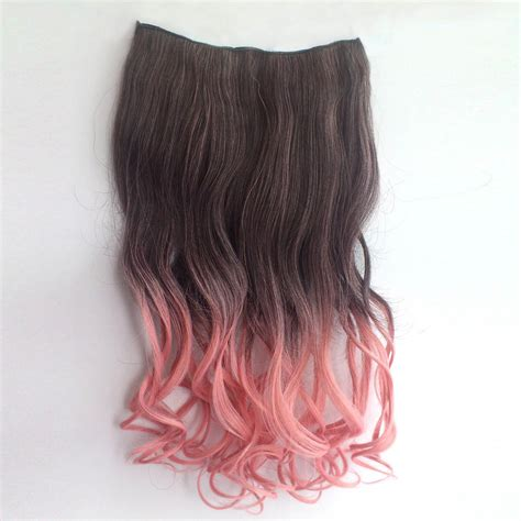 Ombre Colorful Clip In Hair Wavy 11 Blackpink 1 Piece