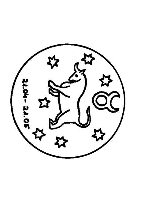 sternzeichen stier ausmalbild malvorlage sternzeichen
