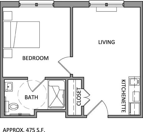 one bedroom floor plan assisted living apartment floor plans louisiana