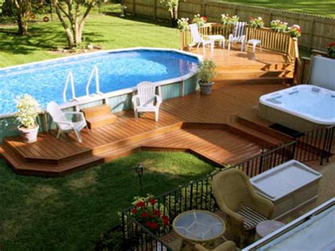 Pictures Of Decks Around Above Ground Pool by Outdoor Above Ground Pool With Deck Deck Plans For Above