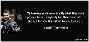 My teenage years were exactly what they were supposed to ...