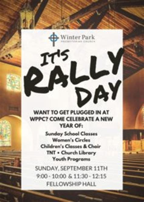 rally day winter park presbyterian church