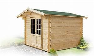 Abri De Jardin Bois 6m2 : abri de jardin en bois en madriers 6 m2 avec plancher olivier ~ Farleysfitness.com Idées de Décoration