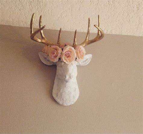 deer head decor ideas  pinterest faux deer