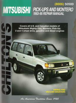 motor auto repair manual 1995 mitsubishi montero parental controls 1983 1995 mitsubishi pick ups and montero chilton s total car care manual