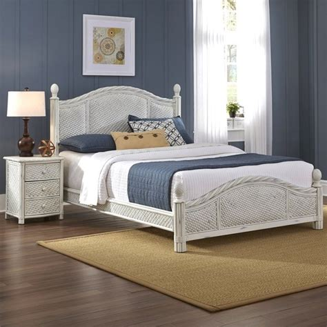 2 wicker bedroom set in white 5548 x018