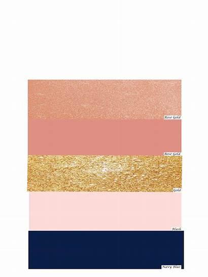 Gold Navy Rose Blush Colors Pink Scheme