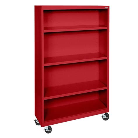 Steel Bookcases by Sandusky Mobile Steel Bookcase Bm30361852 01 The