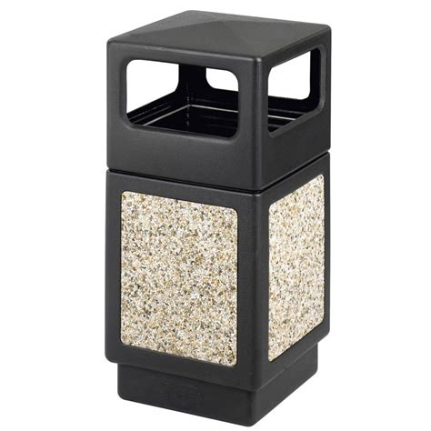 Outdoor Patio Trash Can Weather Resistant Outdoor Waste Bins Office Zone 174
