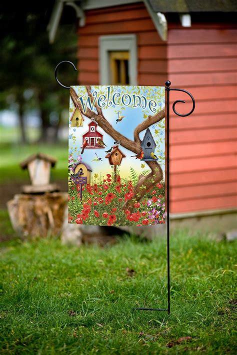 toland home garden toland home garden poppies and birdhouses garden flag