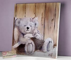 Tableau Chambre Fille : tableau ourson fille parme 10 vente tableau ourson pour enfants decore ta chambre ~ Teatrodelosmanantiales.com Idées de Décoration