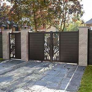Cloture Aluminium Castorama : portail en aluminium idaho noir castorama gates ~ Melissatoandfro.com Idées de Décoration