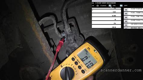 chevy avalanche evap vent solenoid test p p