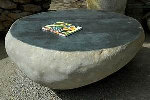 solid stone coffee table beach house tables coffee With river rock coffee table